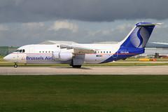 Brussels Airlines - British Aerospace BAe-146-200 - OO-DJH (Andy2982) Tags: airliner brusselsairlines britishaerospacebae146200 oodjh cne2172 manchesterairport