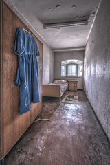 Blue dress... (Geppestein) Tags: blue dress urbex wwwgeppesteinfotografienl urbanexploring prison abandoned decay hdr thebestofhdr