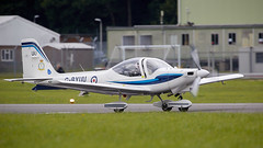 Grob Tutor (Bernie Condon) Tags: dunsfold wingswheels airshow surrey uk aviation aircraft flying display grob tutor raf military royalairforce basictrainer trainer