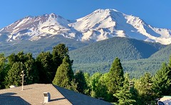 View from my hotel window in the town of Mount Shasta, California — like Pompeii at the foot of Mount Vesuvius. (lhboudreau) Tags:
