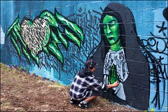 Grenfell Grafitti Jam - DSCF1857a (normko) Tags: london west grenfell grafitti jam 2019 wall mural spray aersol paint art street trellick tower