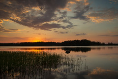 Evening view (JTc (Jari)) Tags: jtc suomi finland kustavi landscape sunset waterscape evening summer water reflection d800