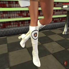 Hold on please, I'm waiting for my cola. (parisevermore) Tags: ghee vintagefair boots events footwear shoes secondlifeevents belleza hourglass maitreya physique