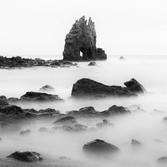 Rocks and Silk (One_Penny) Tags: water stone coast spain rocks galicia shore canon6d ocean longexposure sea blackandwhite seascape blur nature contrast square landscape waterfront smooth silk atlantic squareformat bnw
