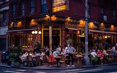 New York (KennardP) Tags: newyork newyorkcity nyc manhattan people canoneosr road cityatnight citylights nightlights nightphotography restaurant food lights buildings littleitaly canonrf50mmf12l canonrflens canon tourist mulberrystreet