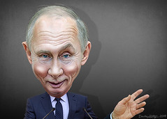 Vladimir Putin - Caricature (DonkeyHotey) Tags: vladimirvladimirovichputin vladimirputin presidentofrussia russia donkeyhotey photoshop caricature cartoon face politics political photo manipulation photomanipulation commentary politicalcommentary campaign politician caricatura karikatuur karikatur