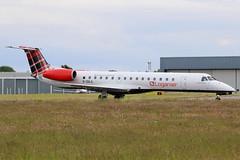 "G-SAJL | Embraer EMB-145EP | Loganair ""Clan Kinnaird / Clann ChinnAird"" (cv880m) Tags: guernsey guernseyairport gci channelislands aviation aircraft airplane airport airliner airline jetliner ttail gsajl embraer em4 emb145 erj145 145ep amazon loganair clankinnaird clannchinnaird tartan regionaljet scotland scotlandsairline"