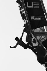 UE MARSEILLE-1 (steed13) Tags: sport escalade marseille urbanelements noiretblanc nb noirblanc blackwhite blackandwhite