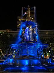 Tyler Davidson Fountain at Fountain Square at Night - Cincinnati OH (mbell1975) Tags: blue cincinnati ohio unitedstatesofamerica fountain square night oh us usa america lights sq platz place piazza park water waterfountain sculpture statue city tyler davidson