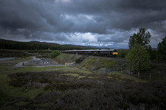Royalties. (-Metal-M1KE-) Tags: theroyalscotsman thebelmondroyalscotsman gbrf emd dalwinnie scotland 66746 66743 train
