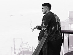 For all the love he'd left below in the waves (MATTY // *OMG*) Tags: sl secondlife photo photography bw blackandwhite male fashion blogger blog style clothing mesh event new stylish street wear avatar 3d virtual art