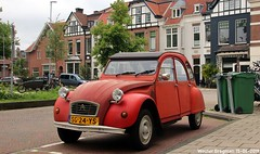 Citroën 2CV Spécial 1987 (XBXG) Tags: sg24ys citroën 2cv spécial 1987 citroën2cv 2pk eend geit deuche deudeuche 2cv6 red rood rouge schotersingel haarlem nederland holland netherlands paysbas vintage old classic french car auto automobile voiture ancienne française france frankrijk vehicle outdoor