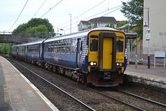 Scotrail Class 156s 156446 & 156492 - Dalmuir (dwb transport photos) Tags: abellio scotrail dmu sprinter 156446 156492 dalmuir glasgow