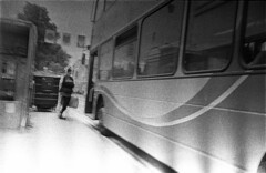 Follow the line (4foot2) Tags: brighton bus streetphoto streetshot street streetphotography candid candidportrate people peoplewatching peopleofbrighton interestingpeople road film filmphotography filmgrain grain blur analogue 35mmfilm oldfilm outofdatefilm expiredfilm experimental standdevelop rodinal kiev11 kiev ukrainiancamera киев киев11 1951 jupiter12 юпитер12 юпитер russiancamera russianlens np7 orwonp7 orwo blackandwhite bw monochrome mono gdr 2019 fourfoottwo 4foot2 4foot2flickr 4foot2photostream