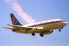Olympic Airways Boeing 737-200; SX-BCG@ ZRH;28.05.1995 (Aero Icarus) Tags: zrh zürichkloten zürichflughafen zurichairport lszh plane avion aircraft flugzeug negativescan