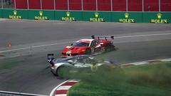 Ferrari crash (scienceduck) Tags: scienceduck 2019 quebec qc canada canadiangrandprix grandprixducanada june race racing hairpin circuitgillesvilleneuve montreal îlenotredame îlenotredamecircuit îlesaintehélène villedemontréal ferrarichallenge pan panning motion
