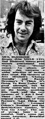 Neil Diamond 1971 U.K. review of Stones album (musicloverdiamond) Tags: article review magazine uk 1971 stones neildiamond