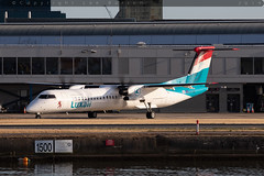 LX-LQI - Bombardier DHC-8-402NG [4534] - Luxair - EGLC / London City Airport - 8 August 2018 (Leezpics) Tags: lxlqi bombardier londoncityairport 2august2018 aviation aircraftspotting luxair dash8 dhc8 lcy planespotting eglc airliners commercialaircraft