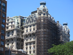 2019 The Ansonia Apartment Building NYC 1619 (Brechtbug) Tags: 2019 the ansonia apartment building now condo upper west side new york city 2109 broadway between 73rd 74th streets built 1899 opened 1904 beaux arts architectural style mansard roof architect paul e m duboy featured 1992 film single white female bridget fonda jennifer jason leigh home pogo cartoonist disney animator walt kelly mobster arnold rothstein athletes jack dempsey babe ruth 06152019 nyc june