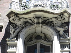 2019 The Dorilton Building luxury Residential Coop 1613 (Brechtbug) Tags: 2019 the dorilton building luxury residential coop west side manhattan new york city built from 1900 1902 opulent beauxarts style limestone brick exterior featuring monumental sculptures richly balustraded balconies three story copper slate mansard roof located 171 71st street broadway verdi square nyc 06152019 june