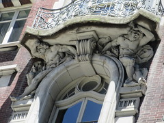 2019 The Dorilton Building luxury Residential Coop 1597 (Brechtbug) Tags: 2019 the dorilton building luxury residential coop west side manhattan new york city built from 1900 1902 opulent beauxarts style limestone brick exterior featuring monumental sculptures richly balustraded balconies three story copper slate mansard roof located 171 71st street broadway verdi square nyc 06152019 june