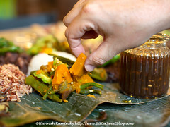 Kamayan - Eat with Your Hands (Bitter-Sweet-) Tags: vegan vegetarian food savory filipino feast familystyle popup restaurant bayarea eastbay oakland california freeforrealkitchen meatless rice noodles eatwithyourhands dinner jackfruit protein mushrooms pinkabet bittermelon community party