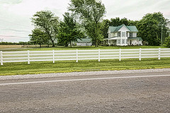 Country Living (rectorjoyce) Tags: country landscape house road highway fence sky field outside outdoors