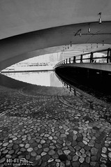 Point Pebbles (Hi-Fi Fotos) Tags: pittsburgh point walkway pedestrian bridge pond water pebbles stones concrete pointstatepark tunnel abstract urban cobblestone nikon d5000 dx hififotos hallewell