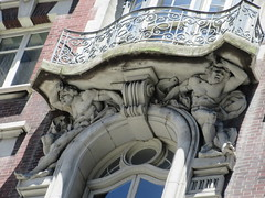 2019 The Dorilton Building luxury Residential Coop 1596 (Brechtbug) Tags: 2019 the dorilton building luxury residential coop west side manhattan new york city built from 1900 1902 opulent beauxarts style limestone brick exterior featuring monumental sculptures richly balustraded balconies three story copper slate mansard roof located 171 71st street broadway verdi square nyc 06152019 june