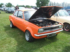 Luton Festival of Transport. (simonslittlelocos) Tags: vauxhall viva gt wide arch rally car blydenstein orange