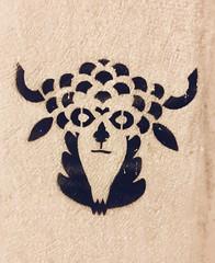 Horned One (RobW_) Tags: horned one graffiti stencil markou botsari koukaki athens greece saturday 15jun2019 june 2019