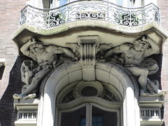 2019 The Dorilton Building luxury Residential Coop 1614 (Brechtbug) Tags: 2019 the dorilton building luxury residential coop west side manhattan new york city built from 1900 1902 opulent beauxarts style limestone brick exterior featuring monumental sculptures richly balustraded balconies three story copper slate mansard roof located 171 71st street broadway verdi square nyc 06152019 june