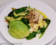 Wilted spinach, steamed egg, melted Coon cheese, and an avocado cheek (garydlum) Tags: avocado cheese cooncheese egg eggs spinach spinachleaves steamedegg canberra australiancapitalterritory australia
