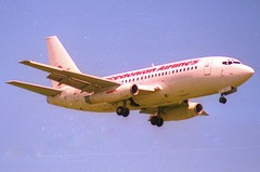 Macedonian Airlines Boeing 737-200; TC-ALT@ZRH;28.05.1995 (Aero Icarus) Tags: zrh zürichkloten zürichflughafen zurichairport lszh plane avion aircraft flugzeug negativescan