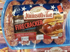 Johnsonville Firecracker Sausage (tommyd.) Tags: folsom california winco johnsonville firecracker sausage fresh spicy summer links fourthofjuly cookout america usa flag red white blue stars stripes limitededition bha citricacid propylgallate familyowned 1945