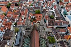 Ulmer Münster von oben (wb.fotografie) Tags: badenwürttemberg ulm ulmermünster münster kirche turm kirchturm dächer stadt