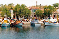 Molyvos Port - 1992 (John Steam) Tags: insel island lesbos griechenland greece molyvos port 1992 juni fischerboote harbour