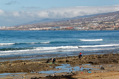 Los Cristianos, Tenerife, Canary Islands (wildhareuk) Tags: beach canaryislands canon canoneos500d people seascape spain tamron18270mm tenerife tenerife2019 wave loscristianos playalasamericas rock rockpool surfing tamron img9402dxo