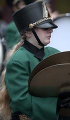 Long Blonde Hair (Scott 97006) Tags: band symbols musician parade uniform woman female lady march hair blonde helmet shades