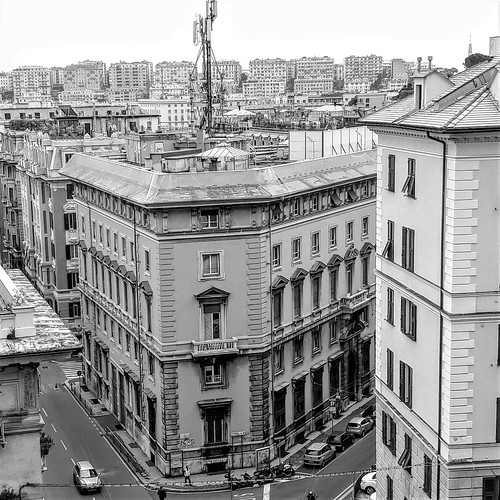 Genova - angolo via Ippolito D'aste e via Domenico Fiasella