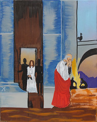 Fourth Station: Jesus is Denied by Peter (lars hammar) Tags: stationsofthecross jesus lent openspacechurch