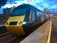 CrossCountry HST (Powercar 43285) - Motherwell (saulokanerailwayphotography) Tags: hst class43 43285 crosscountry