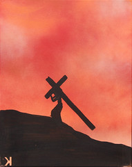 Seventh Station: Jesus Bears the Cross (lars hammar) Tags: stationsofthecross jesus lent openspacechurch