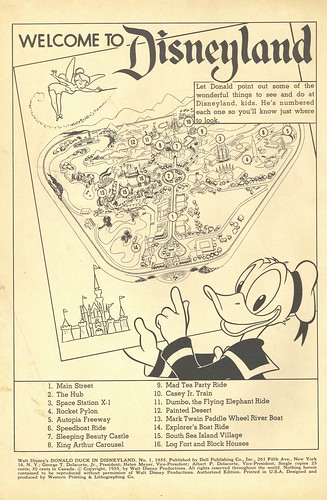 Donald Duck in Disneyland 03 - Disneyland map