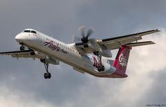 Alaska Horizon / Operated By Horizon Air / Montana Grizzlies Livery / Bombardier Dash 8 Q400 / N402QX / YVR (tremblayfrederick98) Tags: q400