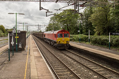 66124 Acton Bridge 14062019 (TheSilkmoth) Tags: 66124 class66 shed yingying generalmotors gm db dbs dbschenker dbred actonbridge cheshirerailways freight railfreight intermodal boxes containers westcoastmainline wcml