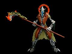 Gaia's Reaper (Sergei Rahkmaninoff) Tags: lego moc bionicle humanoid apocalyptic robot druid scythe biocup2019