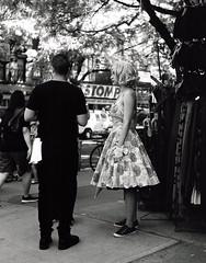 East Village Retro v  2.jpg (J Washburn Cole) Tags: rolleiflex35f blackwhite eastvillage newyork danceparade