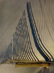 Shadow Sailing (Dionepsoc) Tags: shadows shadowsailboat fence beach sand sandripples shadowsailing flickrfriday lightpainting dunes rotation