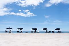 Fort Lauderdale Scene (Trey Ratcliff) Tags: florida ftlauderdale fort lauderdale usa us treyratcliff stuckincustoms stuckincustomscom beach sun sand sky clouds blue white sandy ocean atlantic holiday parasol